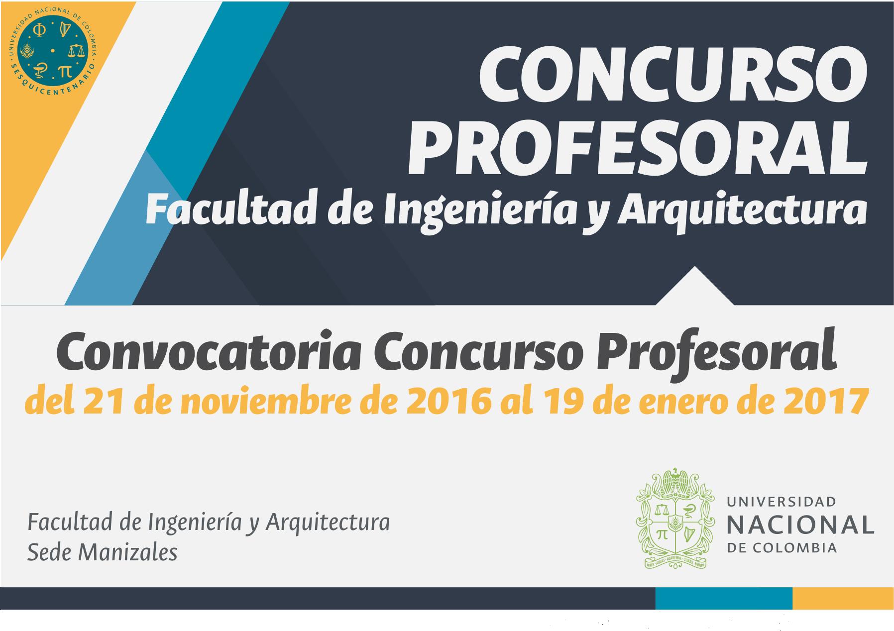 Convocatoria concurso profesoral 2016 for Convocatoria concurso de docentes 2016
