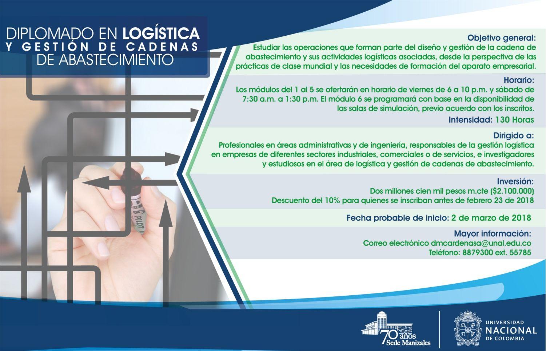 Diplomado en logística y gestión de cadenas de abastecimiento